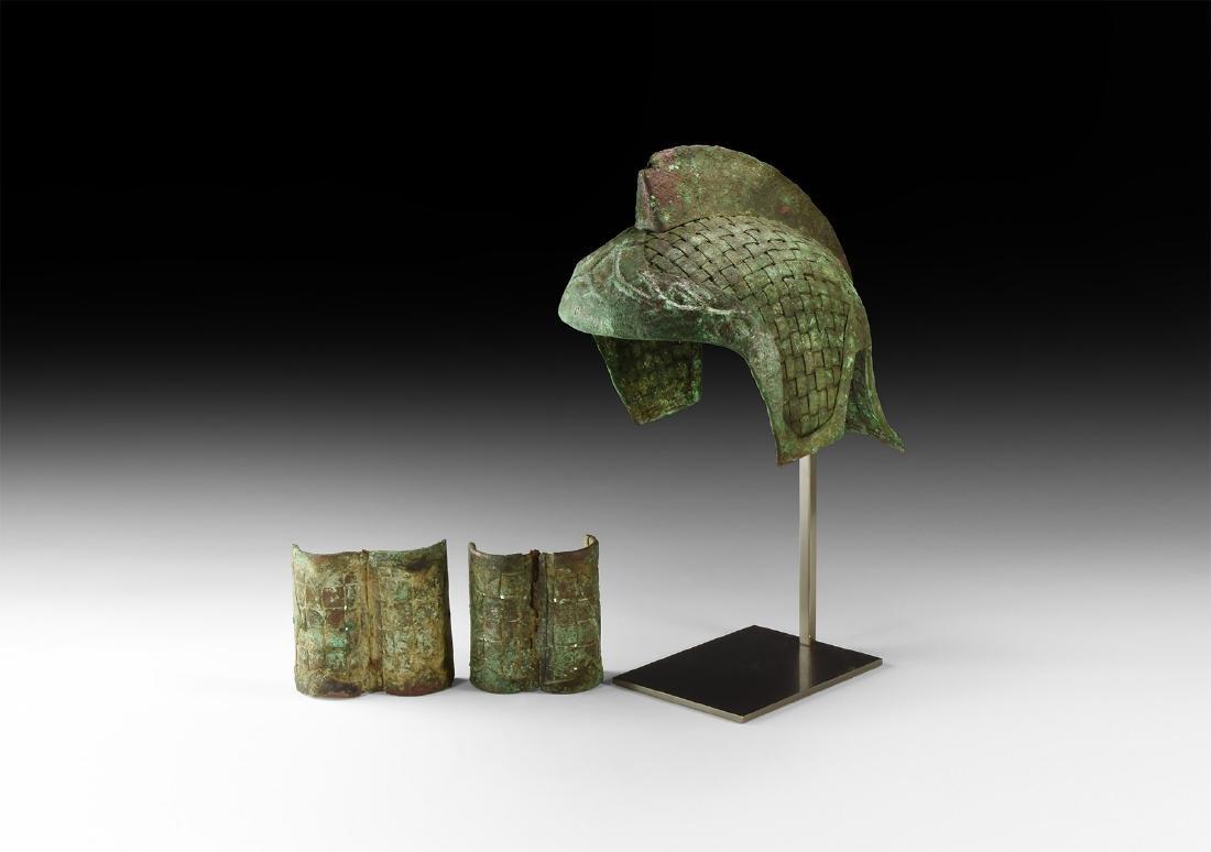 Roman Parade Helmet with Wrist Guards