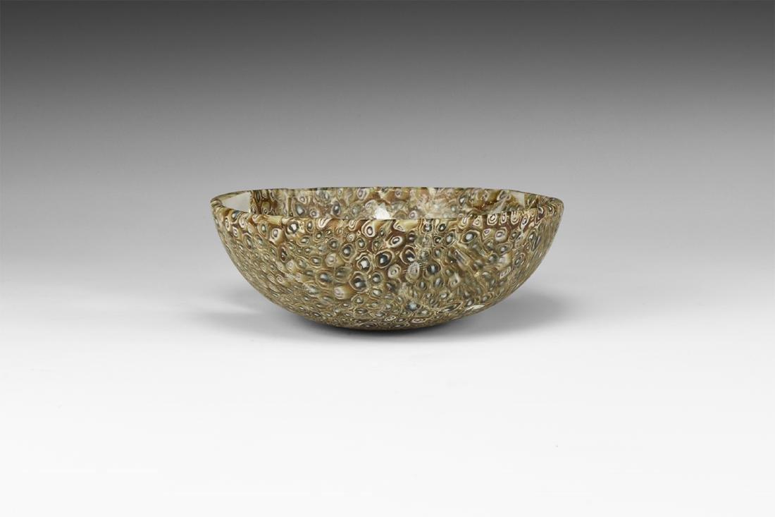 Hellenistic Millefiori Glass Bowl