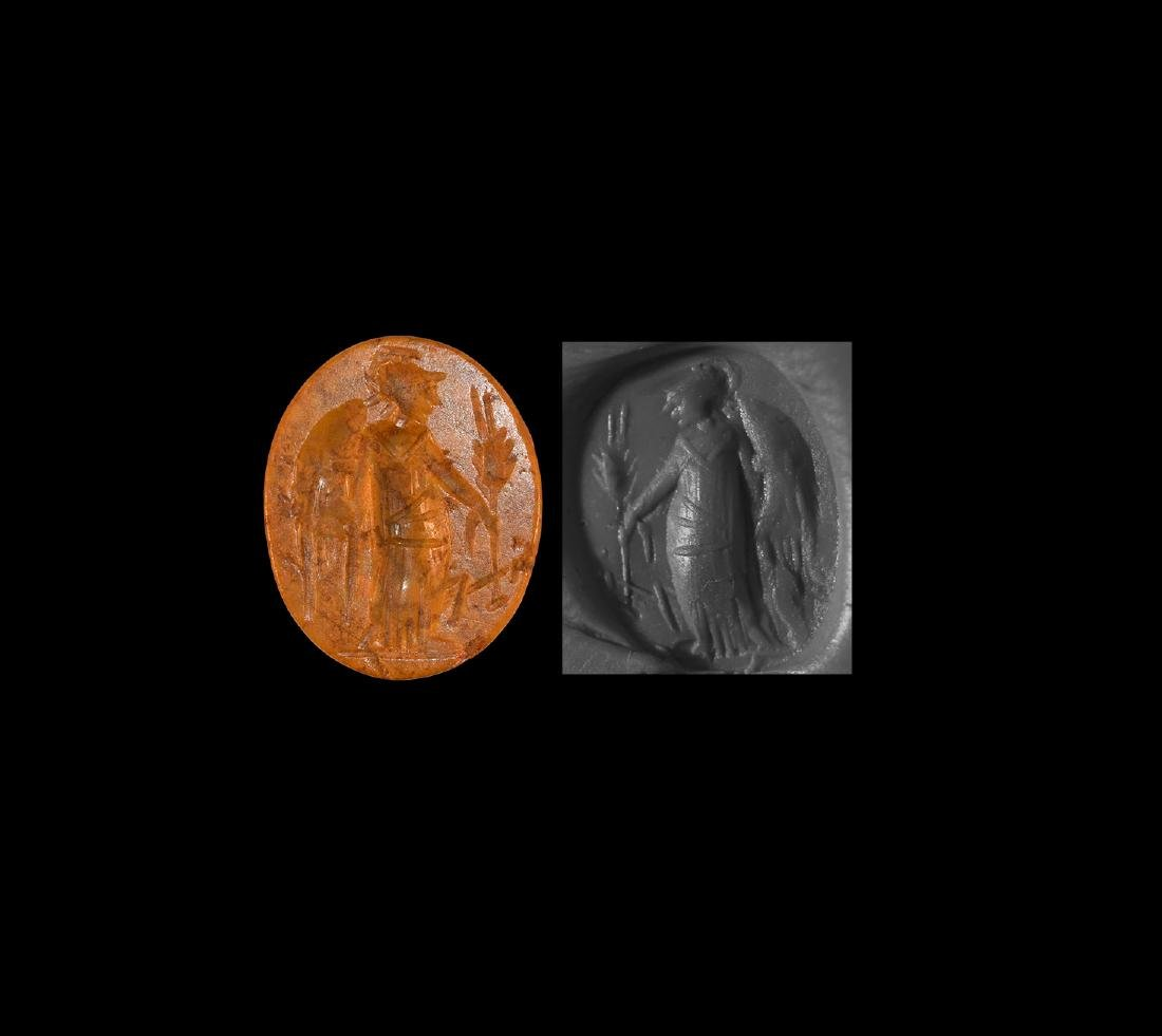 Intaglio Gemstone with Standing Victory