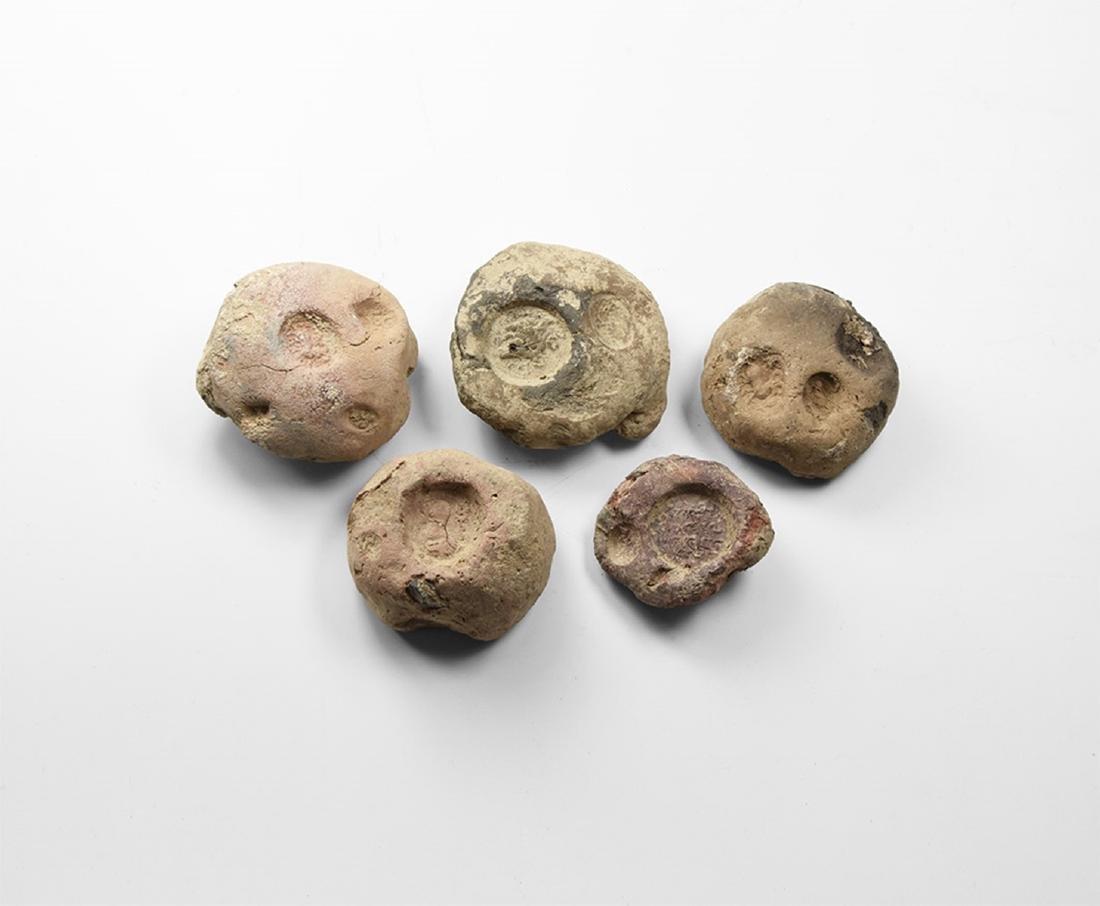 Sassanian Clay Bullae Group