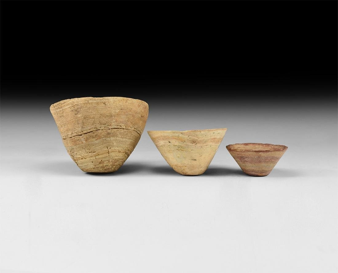 Alabaster Conical Cup Group
