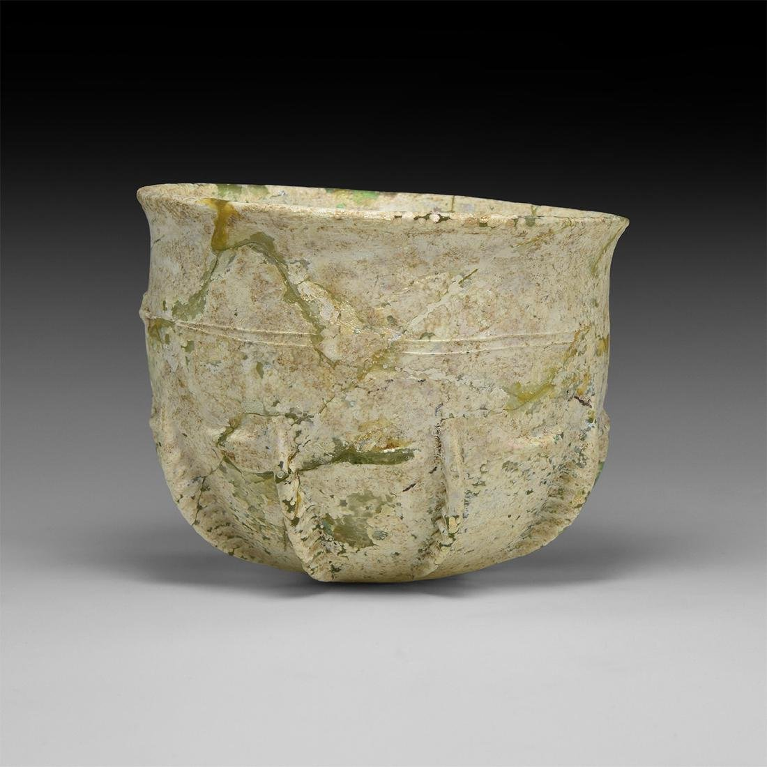 Sassanian Ribbed Glass Cup