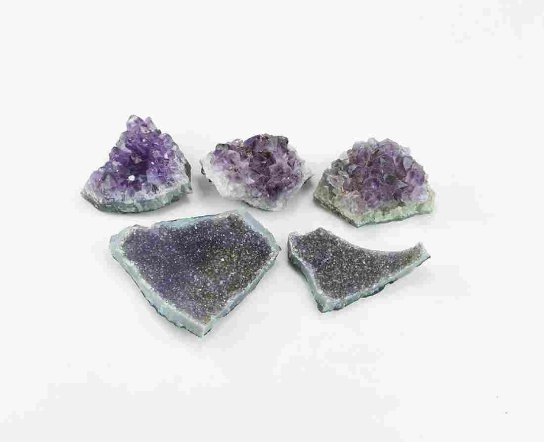 Geoditic Amethyst Crystal Clusters Group
