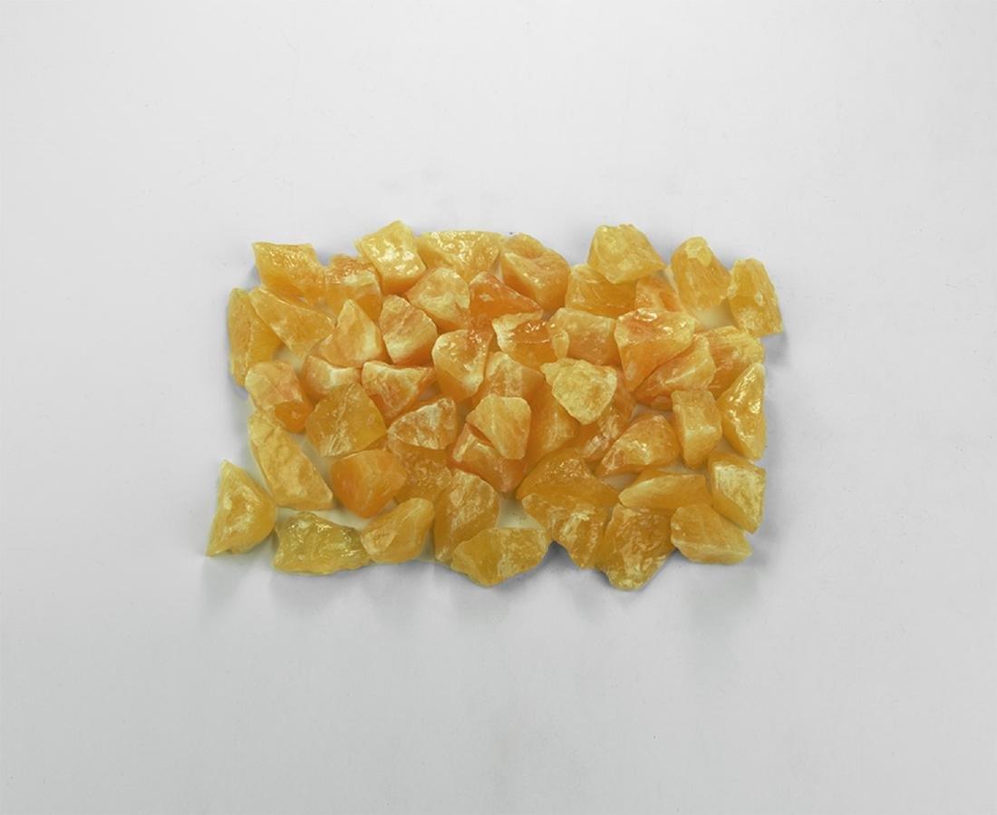 Orange Calcite Crystals Group