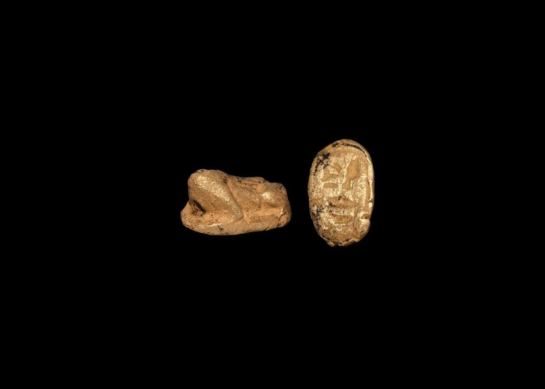 Egyptian Gold Frog Amulet for Amenhotep III