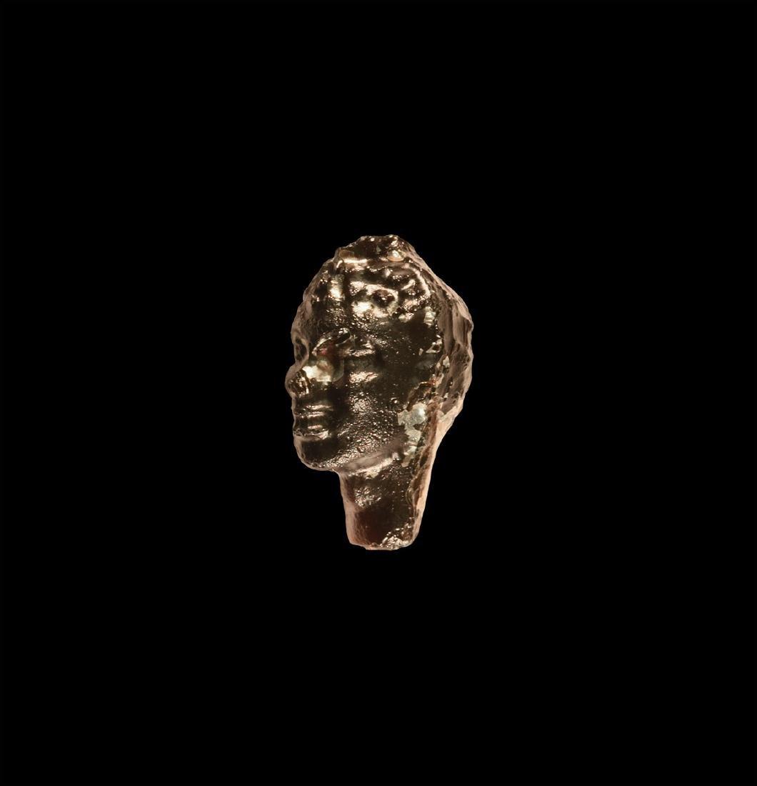Egyptian Purple Glass Head