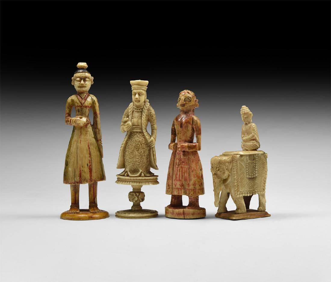 Indian Figural Chess Piece Collection