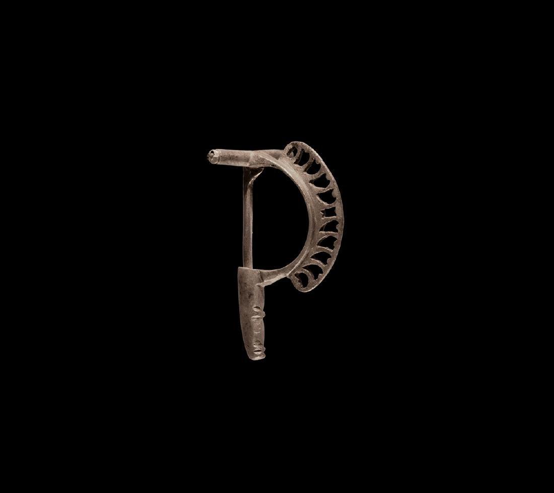 Romano-Celtic Silver Bow Brooch