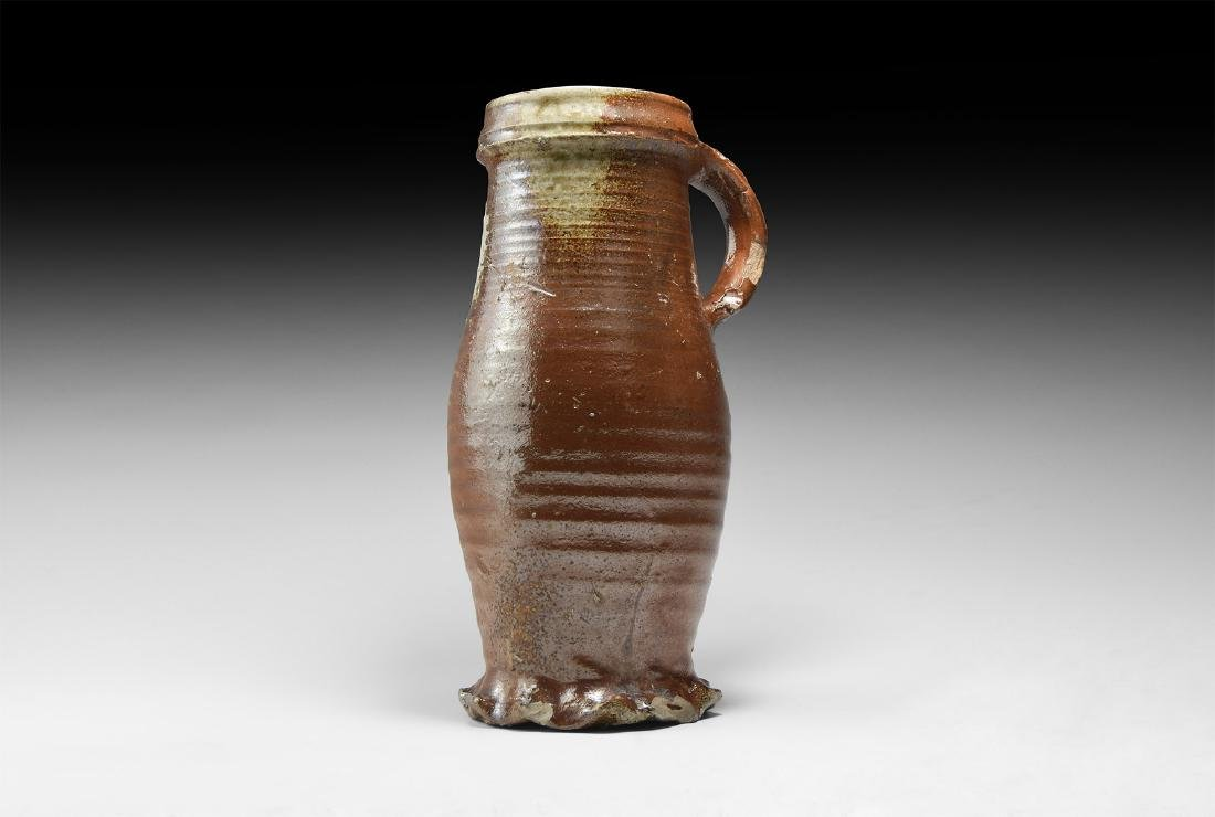 Medieval Glazed Ale Jug