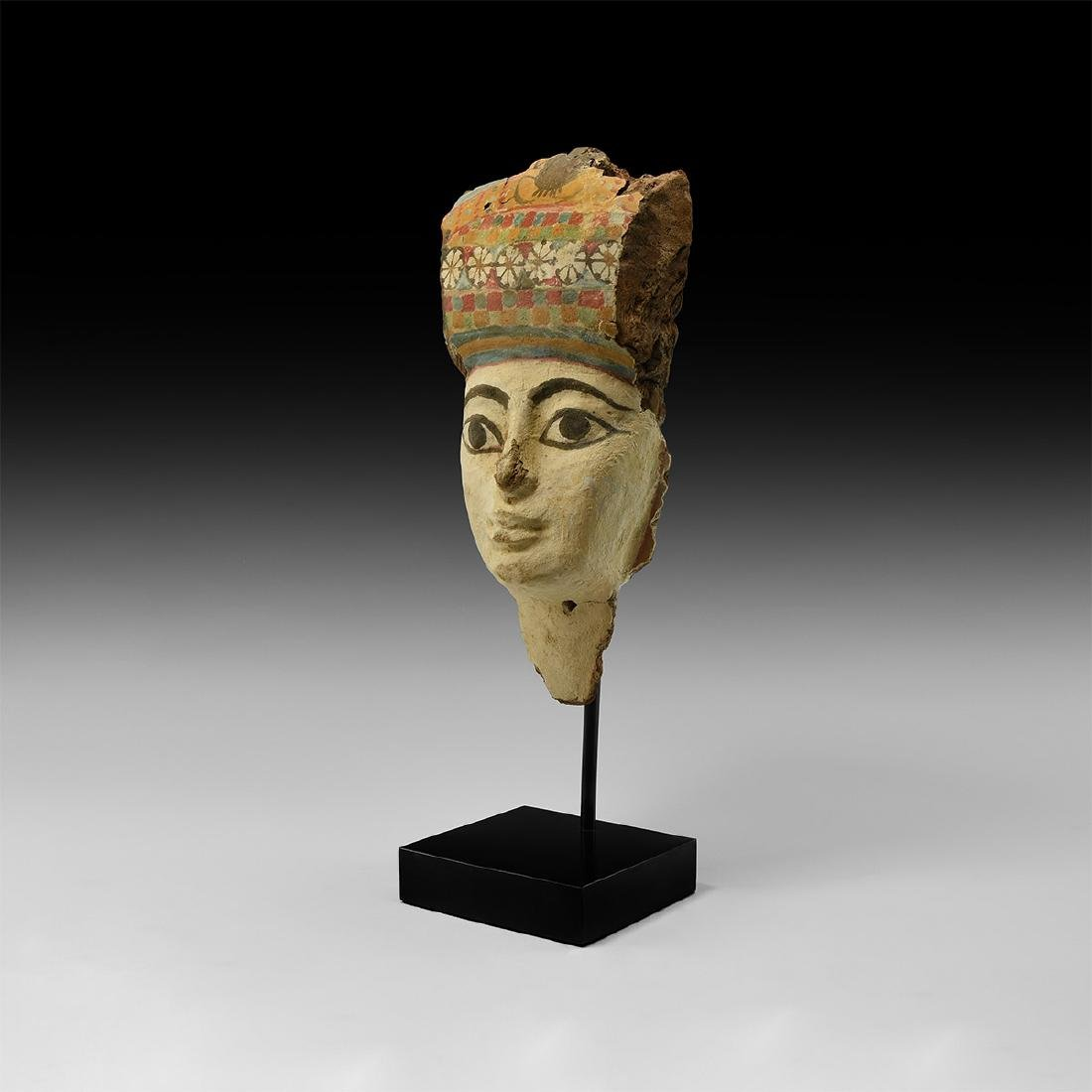 Egyptian Polychrome Wooden Face Mask