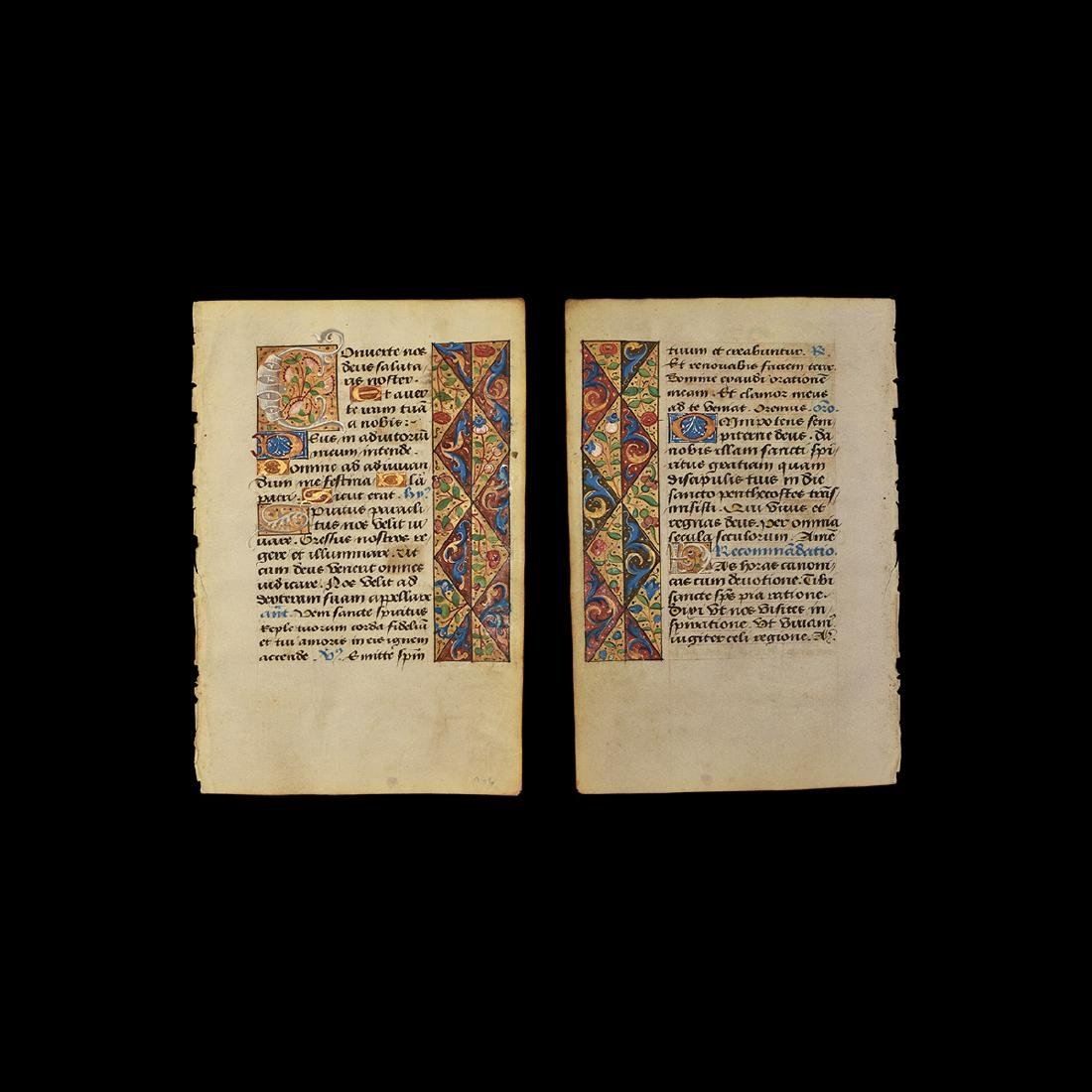 Jean Coene Book of Hours Manuscript Page