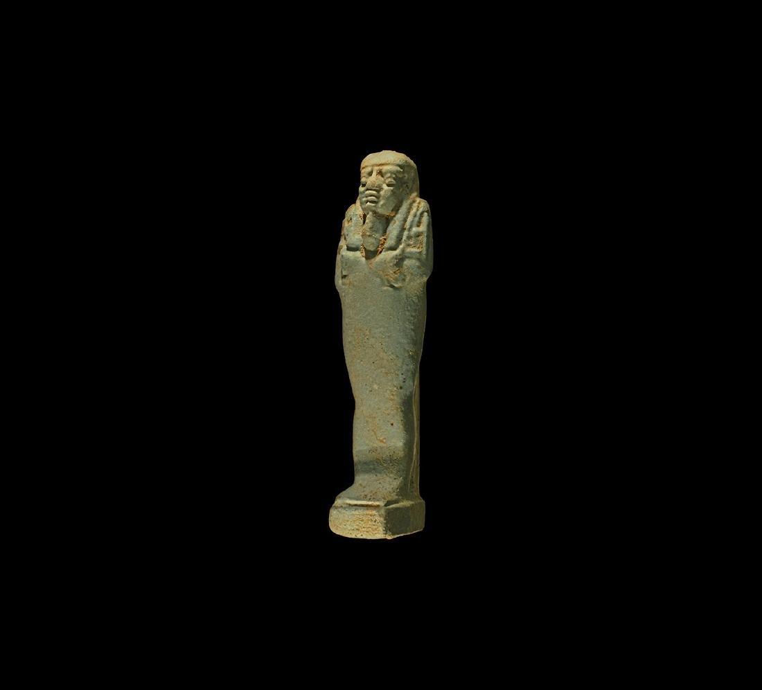 Egyptian Blue Glazed Shabti
