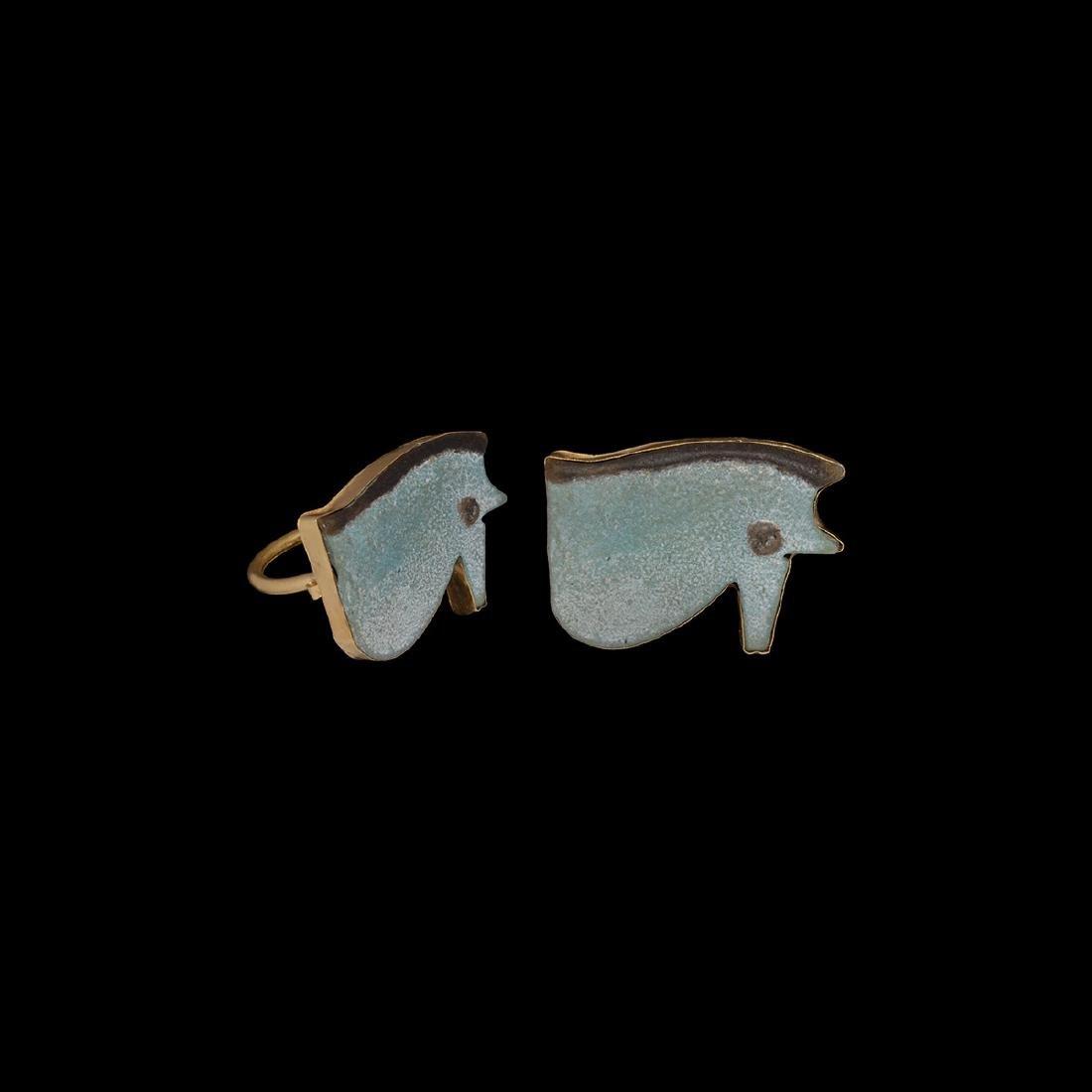 Egyptian Eye of Horus in Gold Ring