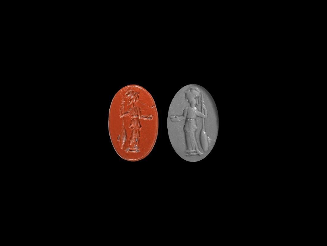Roman Intaglio Gemstone with Minerva