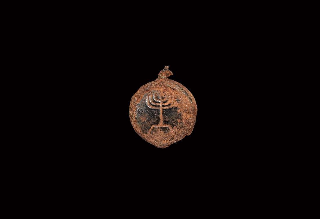 Roman Gemstone with Menorah