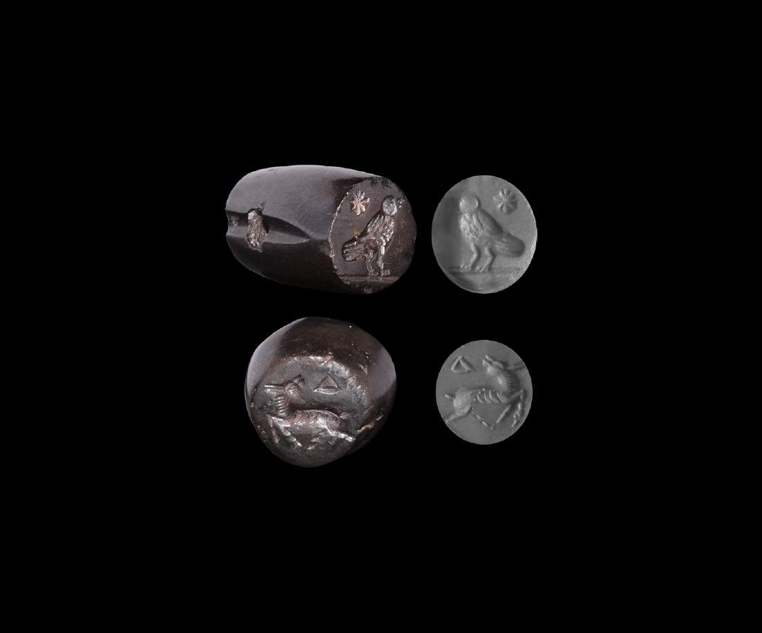 Western Asiatic Sassanian Stamp Seal Group