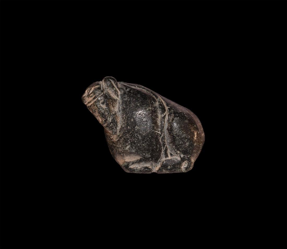 Western Asiatic Reclining Bull Amulet