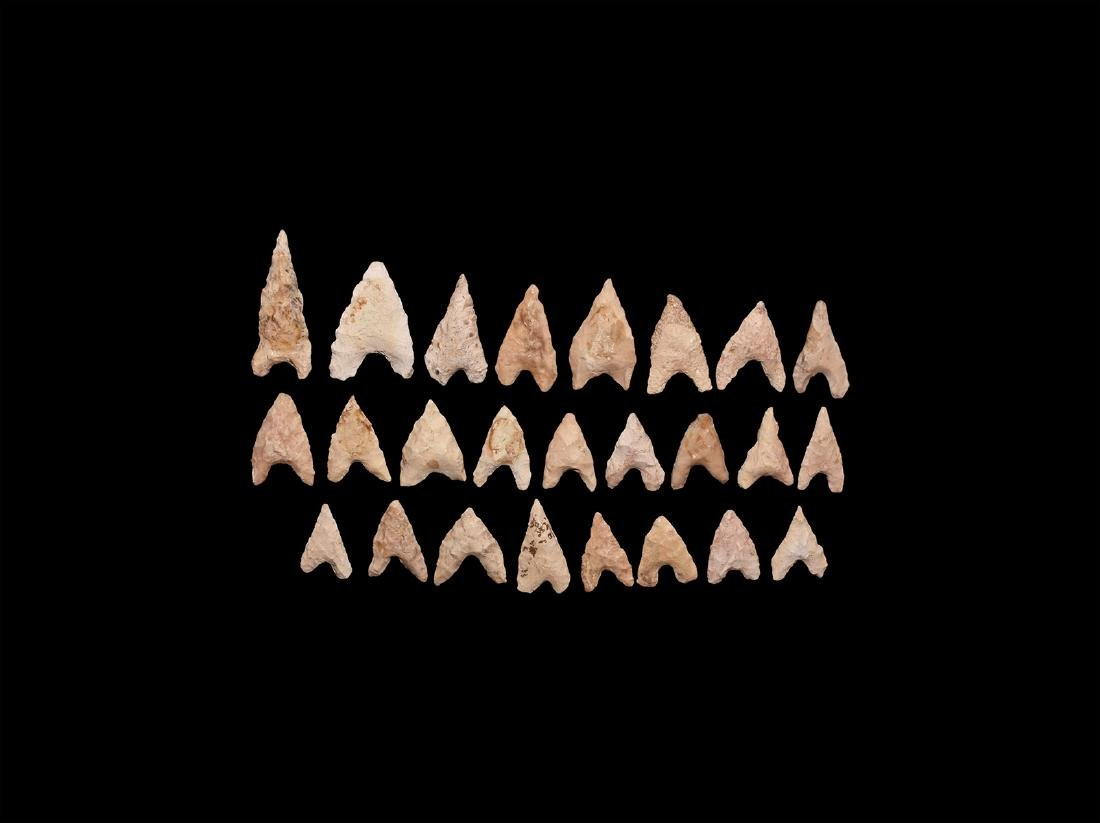 Neolithic Barbed Arrowhead Group