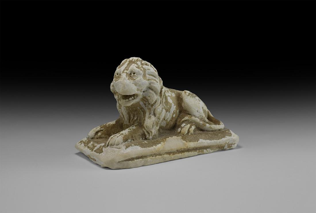 Roman Grand Tour Limestone Lion