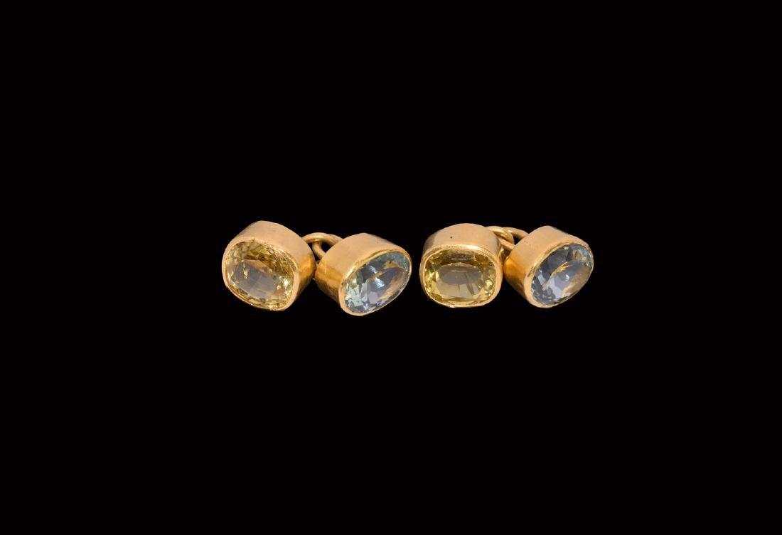 Vintage Gold Cufflink Pair