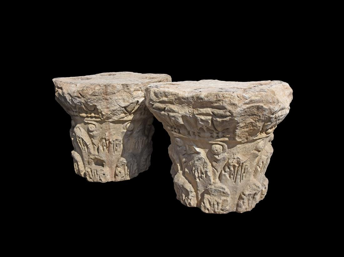 Roman Style Corinthian Column Pair