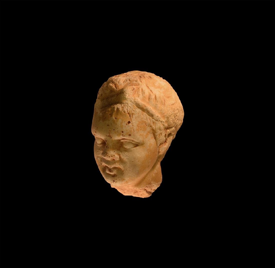 Roman Grand Tour Marble Head of a Boy