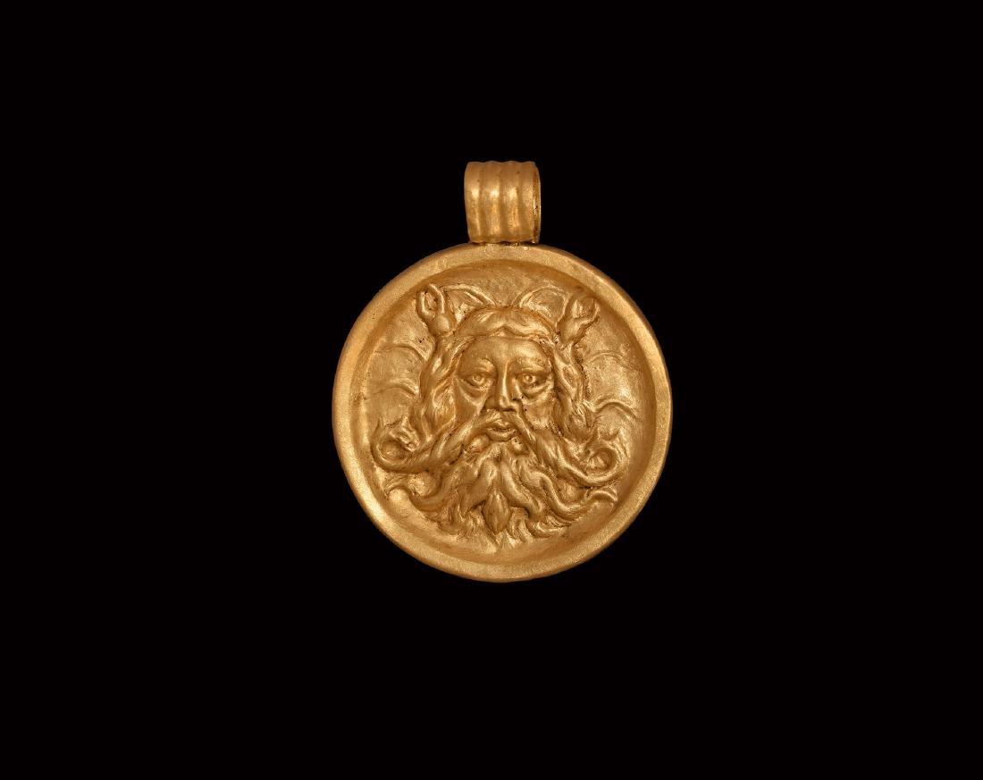 Greek Gold Grand Tour Poseidon Pendant