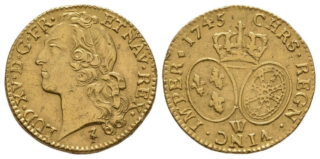 France - Louis XV - 1745W - Gold Louis d'Or