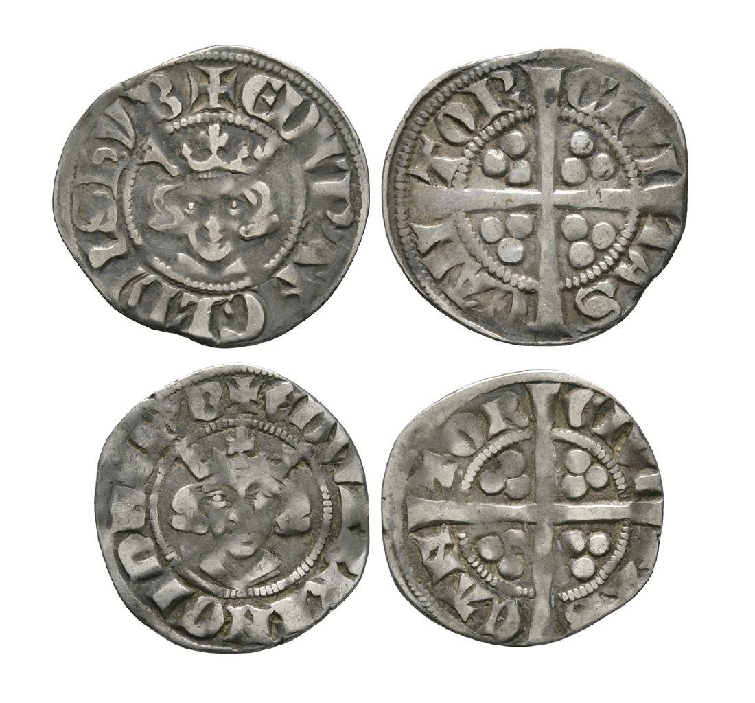 Edward I - Edward II - Canterbury - Long Cross Pennies