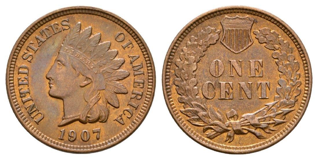 USA - 1907 - Indian Head Cent