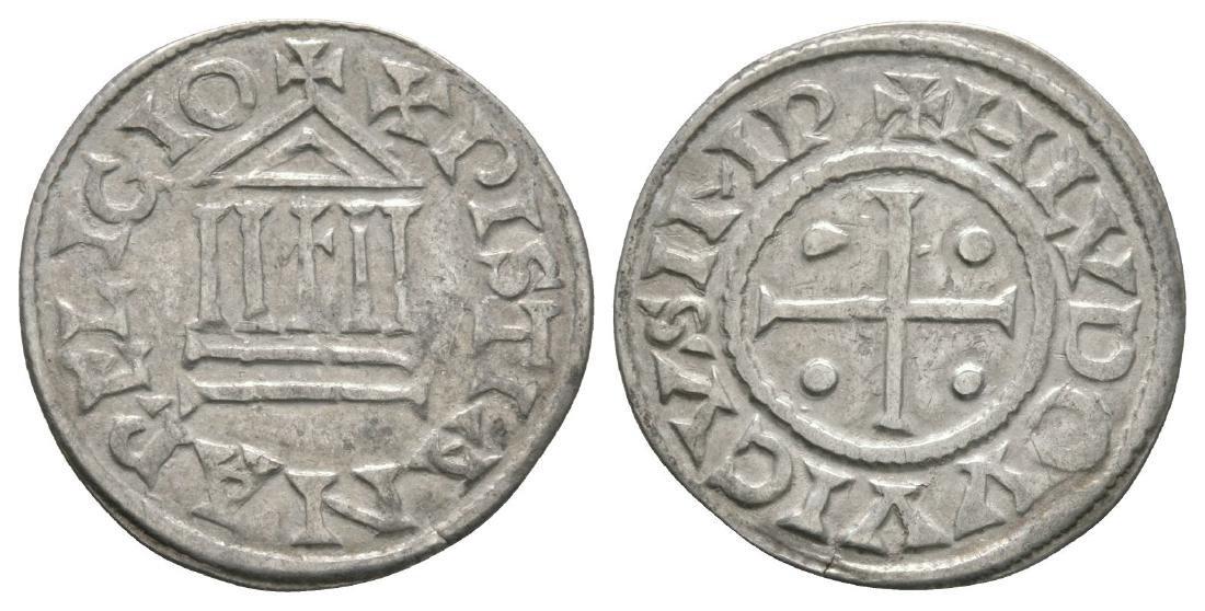 France - Carolingian - Louis the Pious - Temple Denier