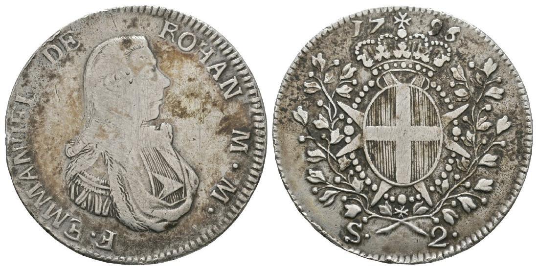 Malta - Emmanuel de Rohan - 1796 - 2 Scudi