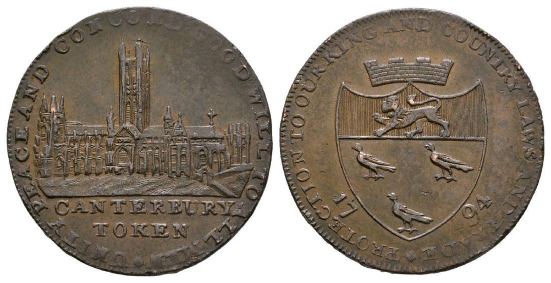 18th Century - Canterbury - 1794 - Edge Error Token