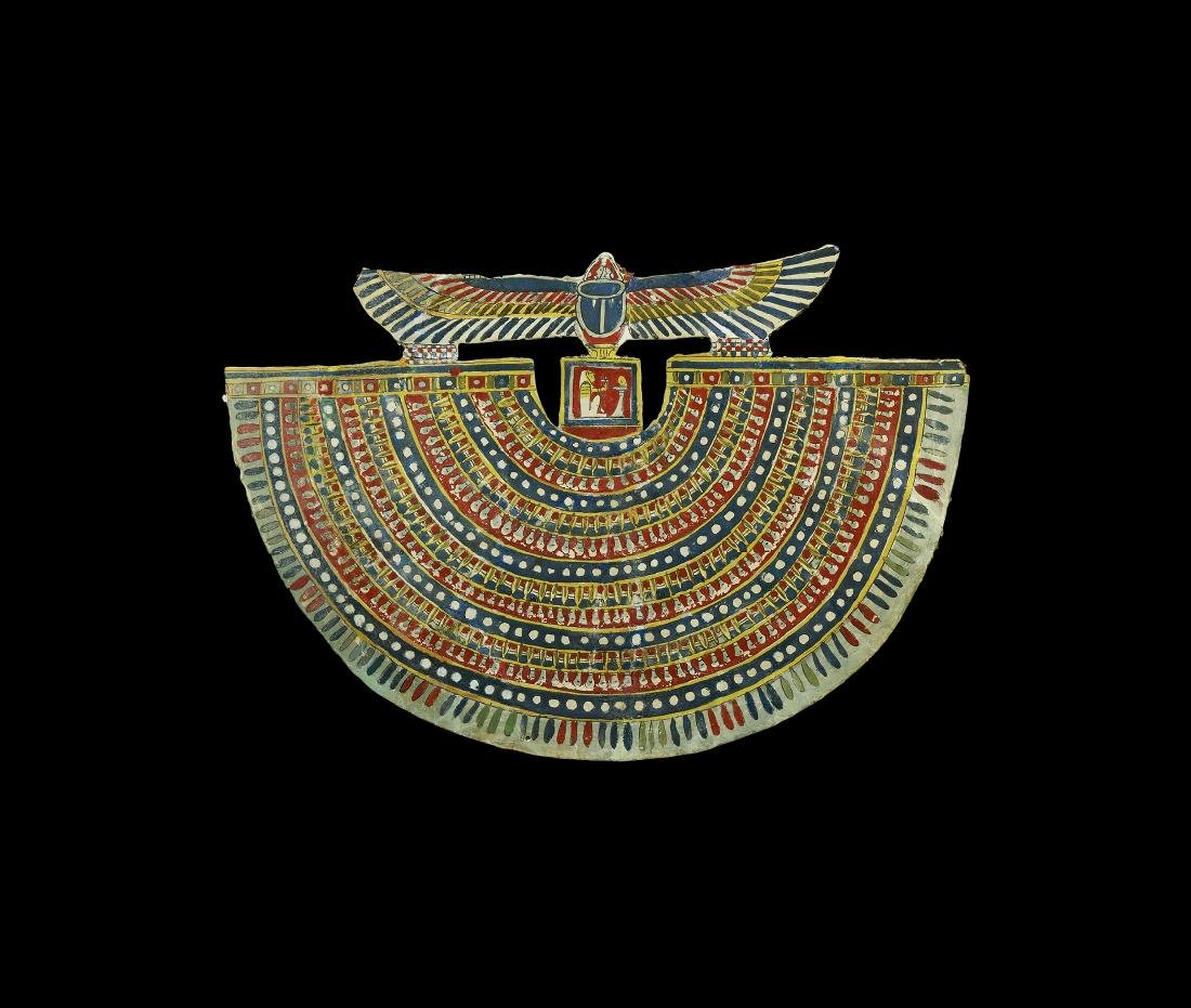 Egyptian Polychrome Cartonnage Collar