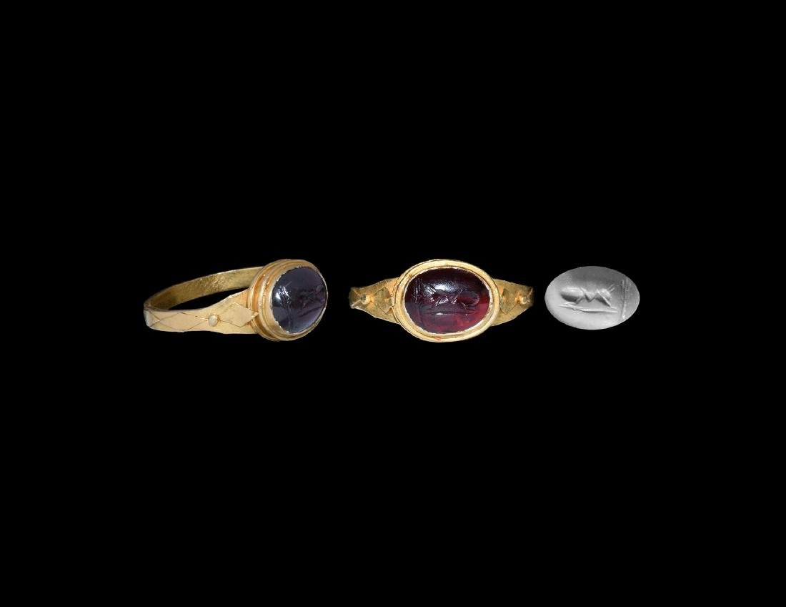 Roman Gold Ring with Ant Gemstone