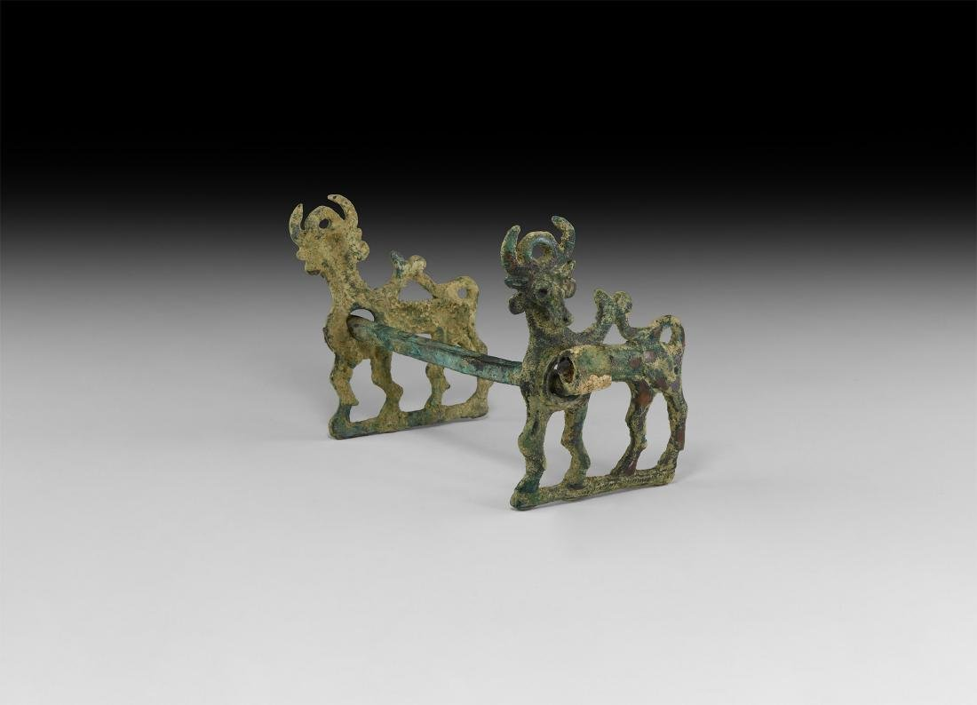 Luristan Horse Bit with Mythical Beasts