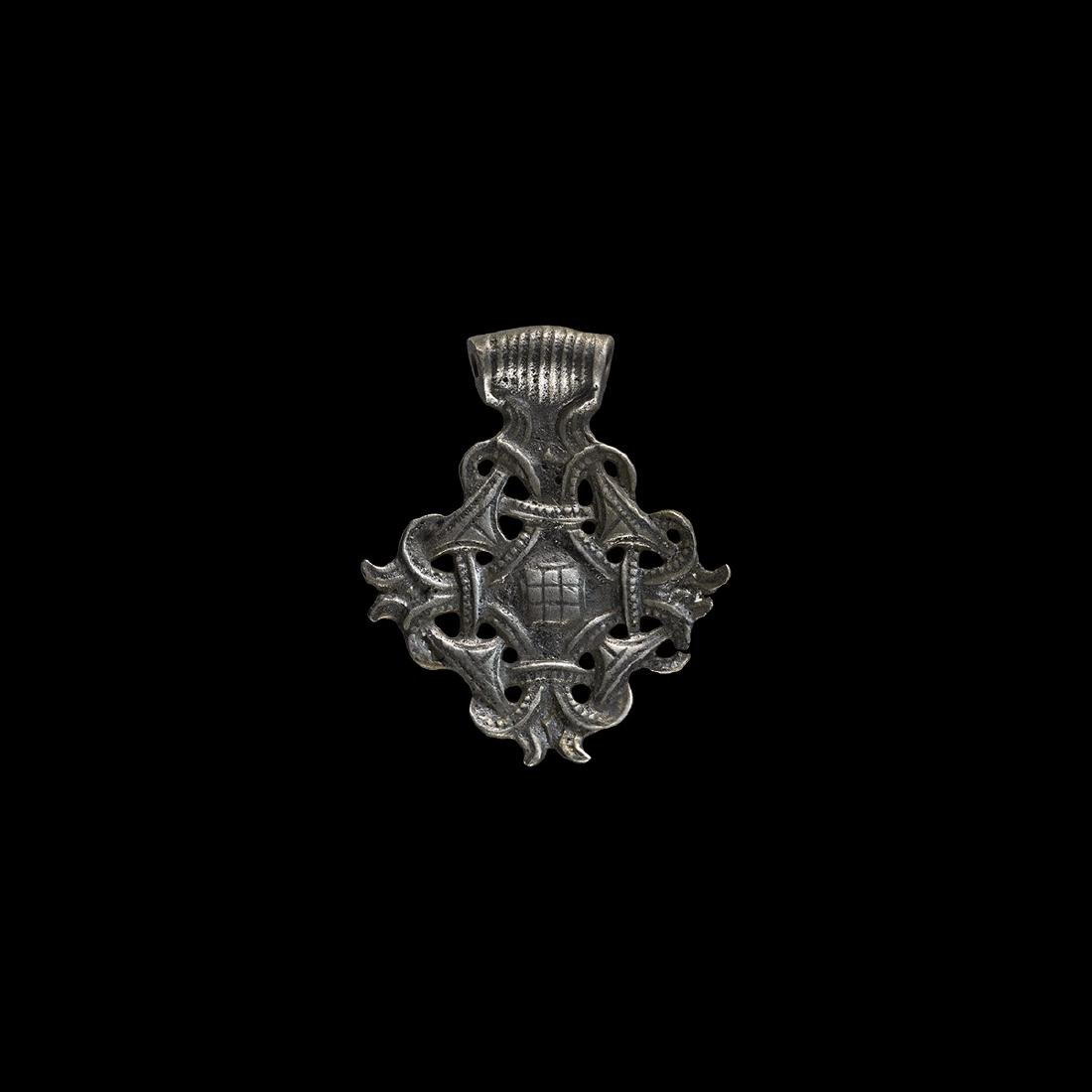 Viking Silver Pendant with Interlaced Design
