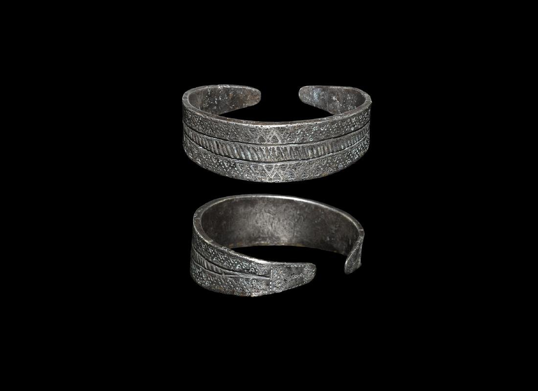 Viking Silver Decorated Bracelet