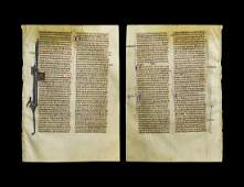 Medieval English Bible Manuscript Page