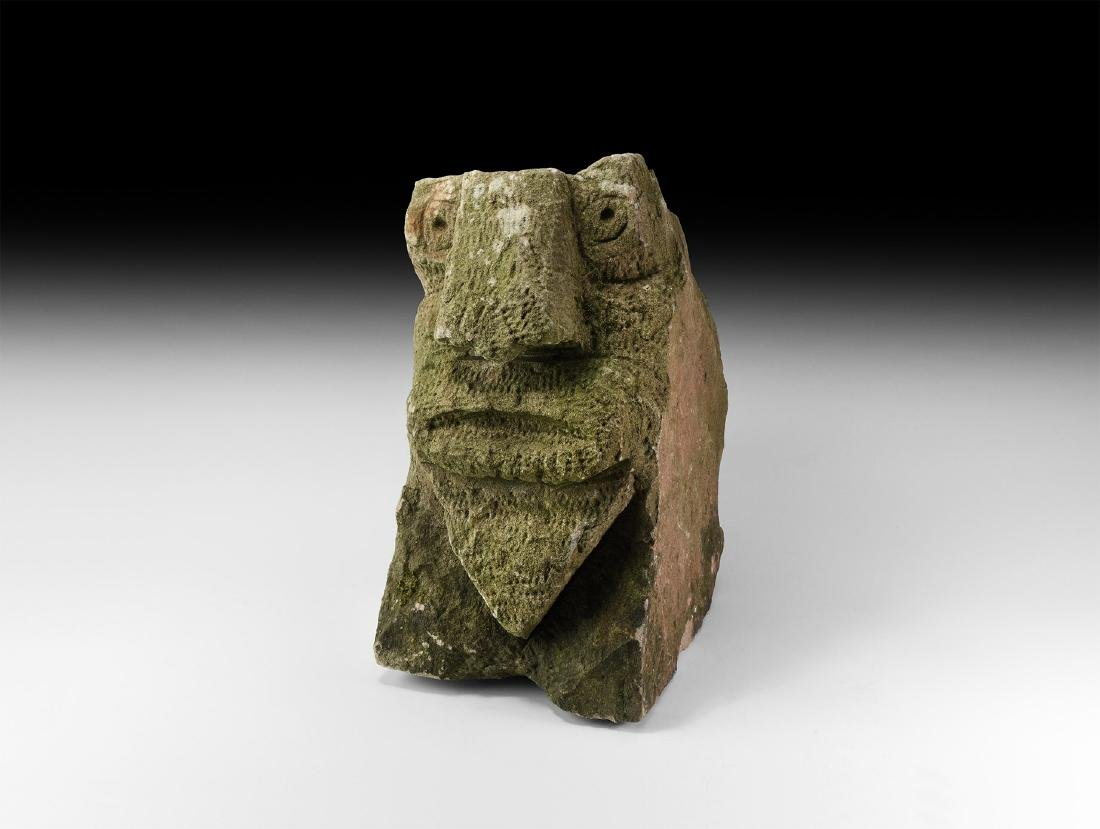 Medieval Carved Stone Head