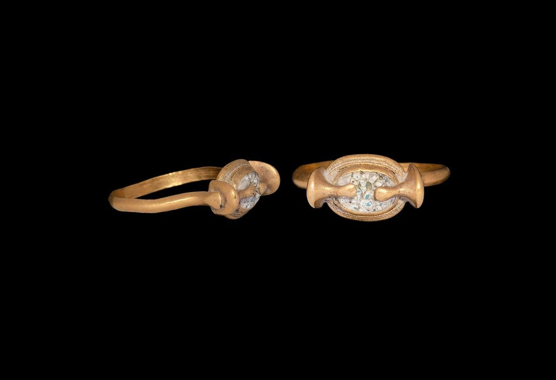 Egyptian Gold Ring with Scarab