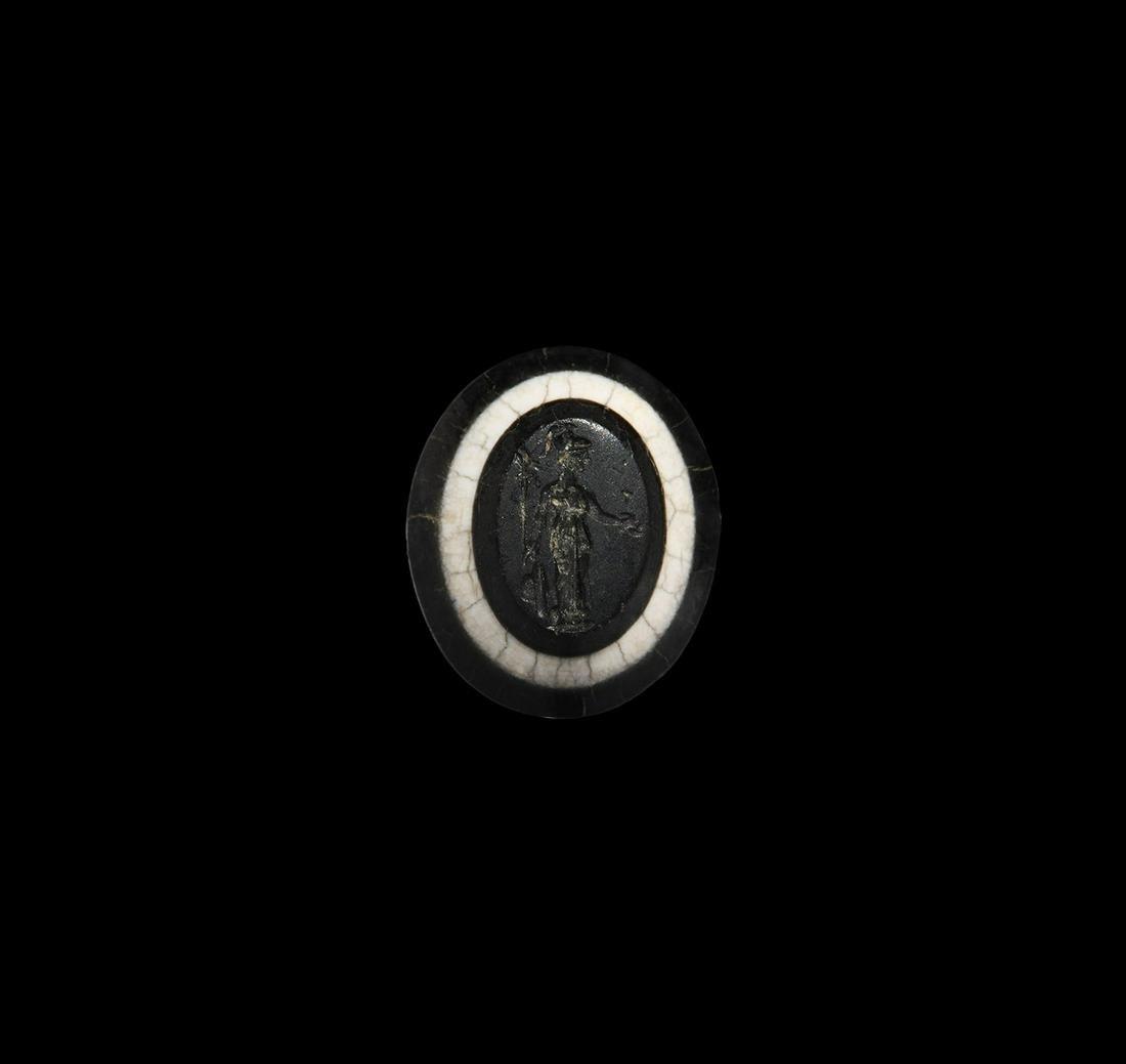 Roman Banded Gemstone with Deity