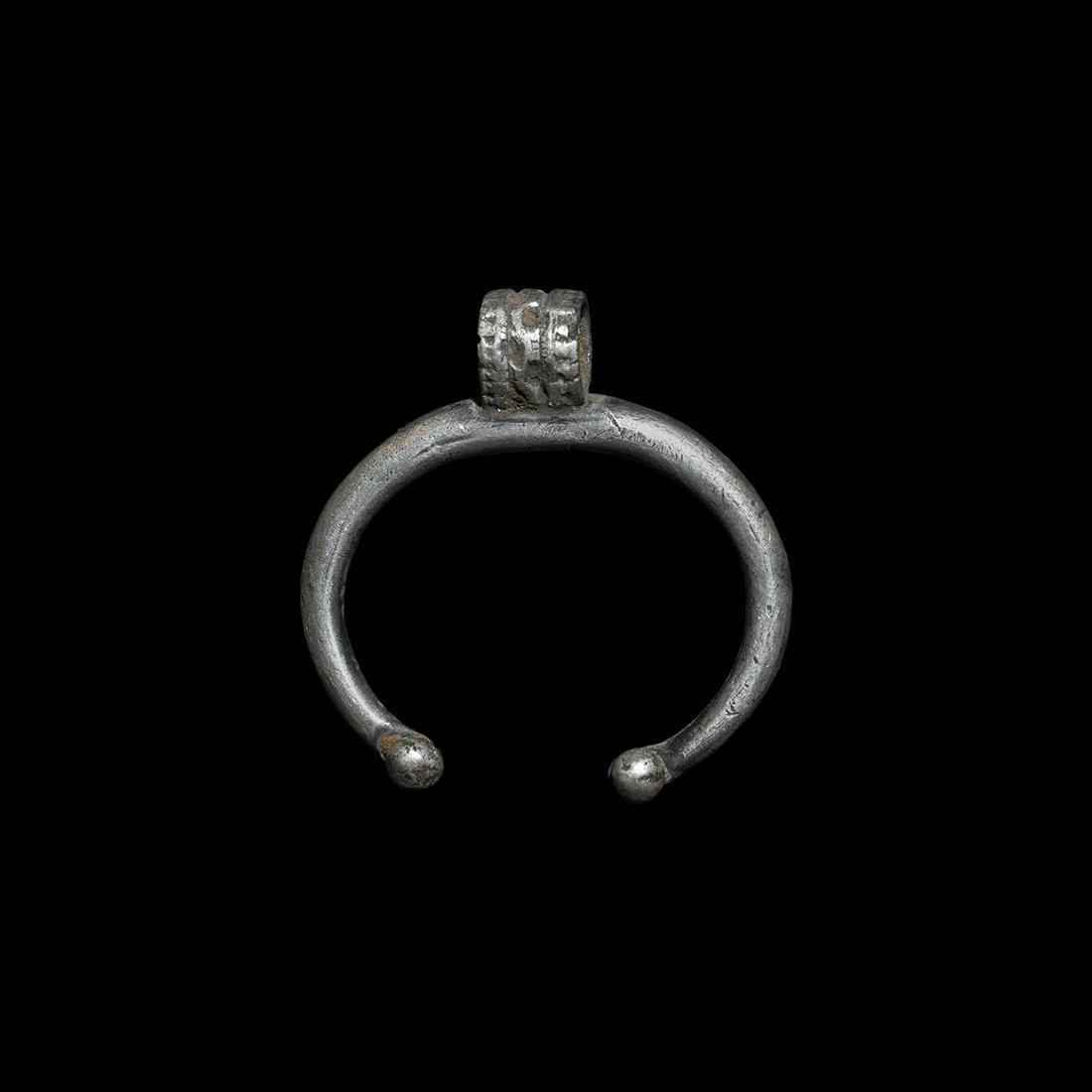 Roman Silver Lunar Pendant