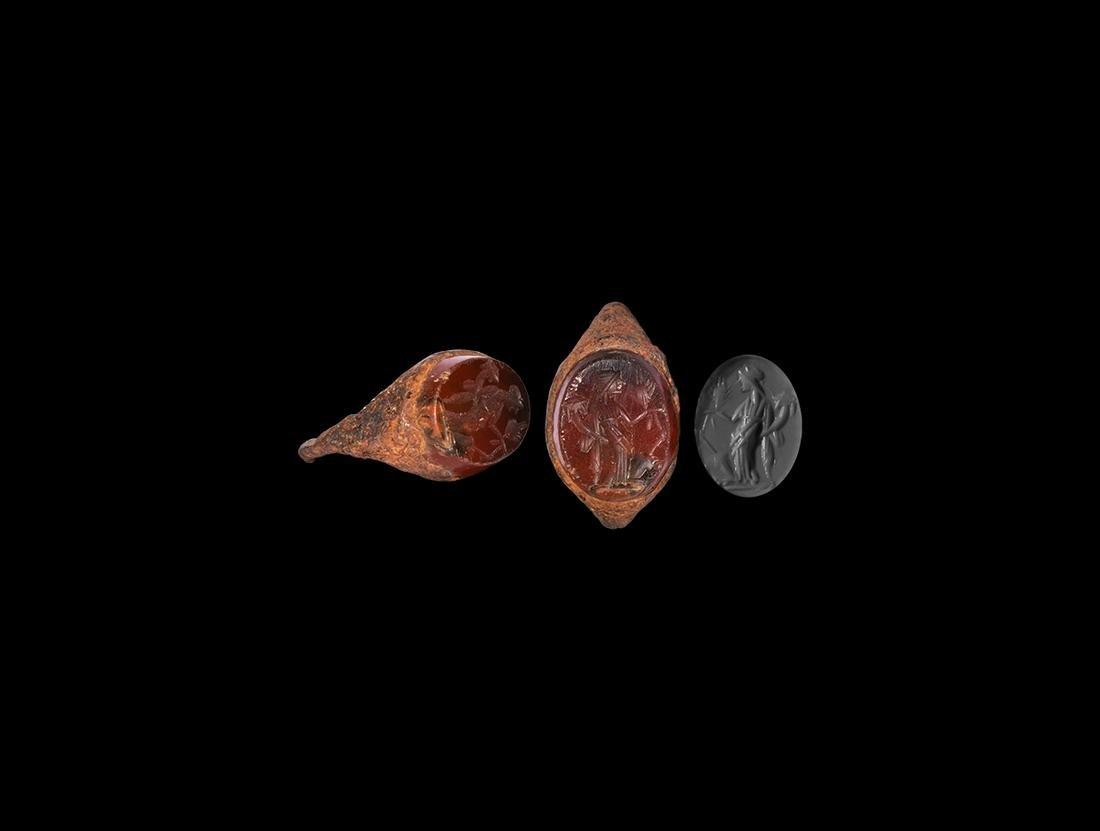 Roman Ring with Fortuna Intaglio