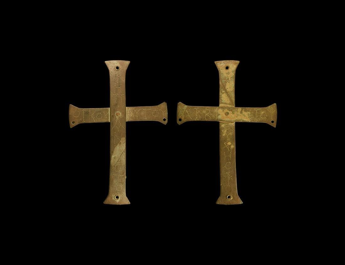 Byzantine Inscribed Reliquary Casket Cross