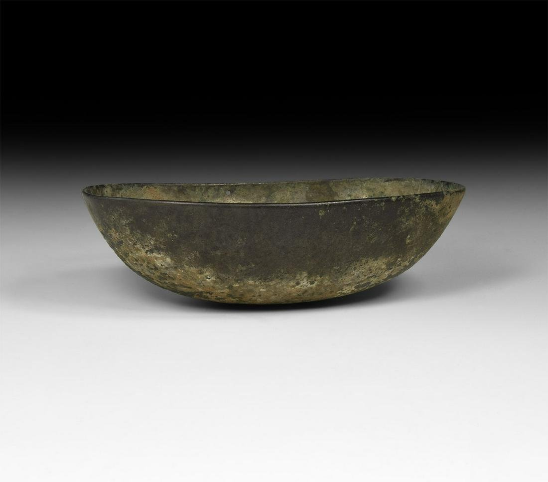 Western Asiatic Sassanian Boat-Shaped Bowl
