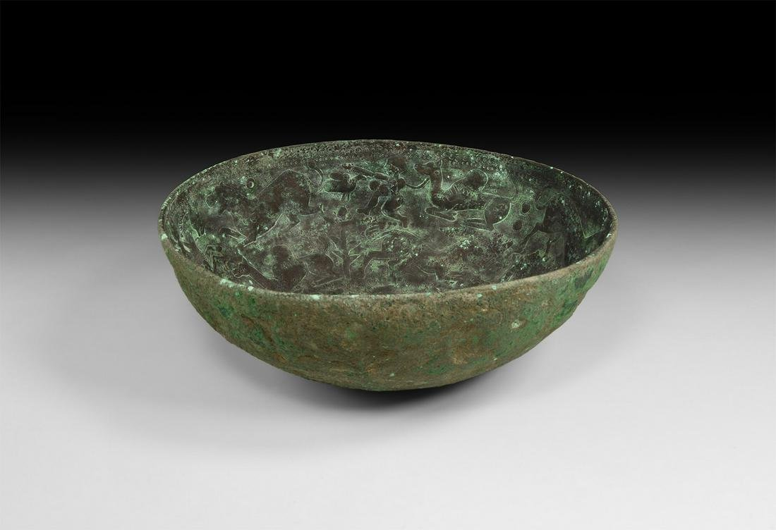 Western Asiatic Sabaean Bowl with Animals