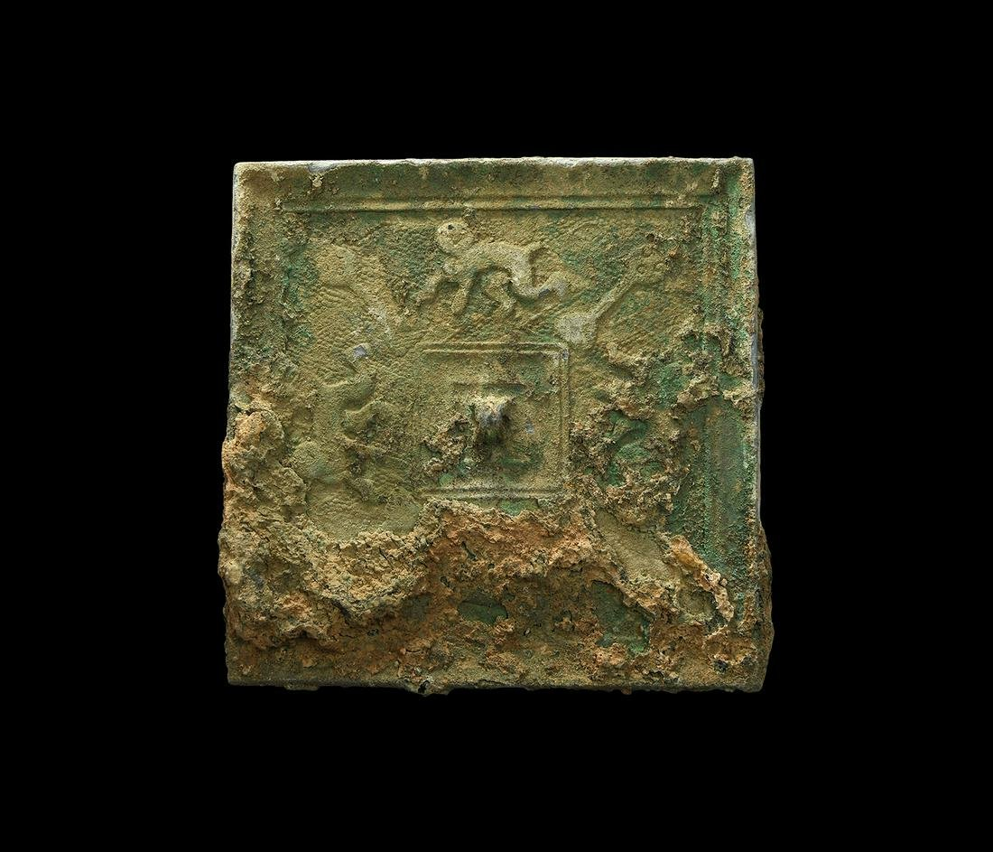Chinese Han Mirror with Animals