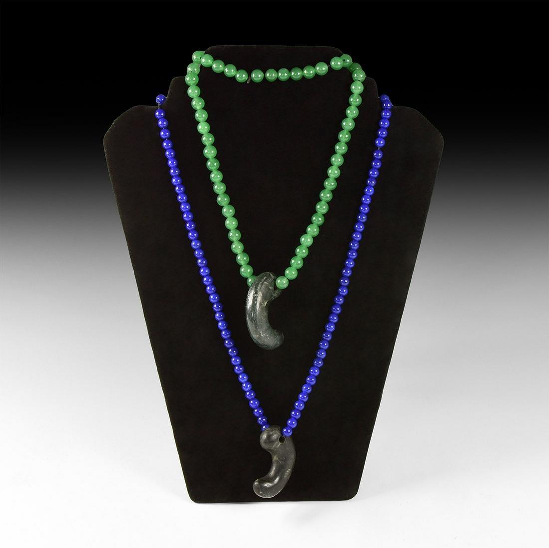 Japanese Magatama Bead Necklace Group