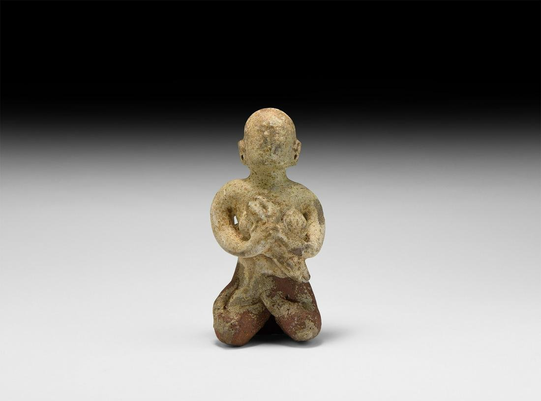 Thai Glazed Mother and Child figurine